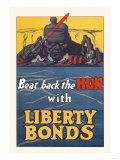 Beat Back the Hun with Liberty Bonds Prints