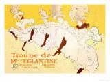 Troupe de Mille Eglantine Láminas por Henri de Toulouse-Lautrec