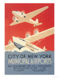 City of New York Municipal Airports Poster by Harry Herzog