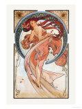 Dance Print by Alphonse Mucha