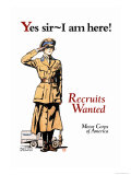 Recruits Wanted: Motor Corps of America Print by Edward Penfield