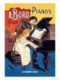 Bord Pianos, The First Lesson Posters af Eugene Oge