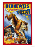 Benneweis Circus Posters by Oscar Knudsen