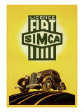 Licence Fiat Simca Plakater