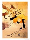 Konfetti Plakater av Henri de Toulouse-Lautrec