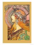 Savonnerie De Bagnolet Giclée-Premiumdruck von Alphonse Mucha