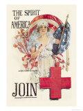 The Spirit of Americ Join Premium Giclee-trykk av Howard Chandler Christy