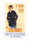 I Want You for the Navy Premium Giclee-trykk av Howard Chandler Christy