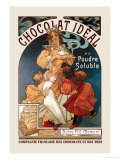 Chocolat Ideal Prints by Alphonse Mucha