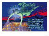 Exposition Internationale d'Electricite, Marseille Posters av David Dellepiane