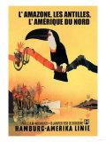 The Amazon, Antilles, and North America: Hamburg-Amerika Cruise Line Kunst