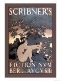 Scribner's Fiction, August 1897 Premium gicléedruk van Maxfield Parrish