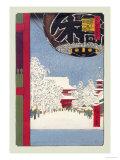 Kinryuzan Temple at Asakusa Posters by Ando Hiroshige