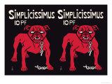 Simplicissimus Posters av Thomas Theodor Heine