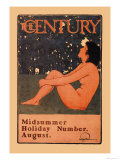 The Century: Midsummer Holiday Number, August Plakater af Maxfield Parrish