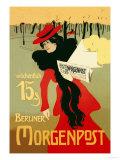 Berliner Morganpost Premium gicléedruk van Howard Pyle