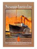 Norwegian-America Cruise Line Poster