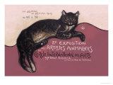Exposition des Artistes Animaliers Poster von Théophile Alexandre Steinlen