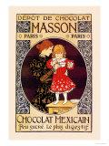 Depot de Chocolat Masson: Chocolat Mexicain Poster von Eugene Grasset