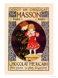 Depot de Chocolat Masson: Chocolat Mexicain Poster by Eugene Grasset
