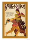 Bailes Rusuos Print by Leon Bakst