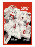Radio and Television Today: Sell 'Em Radio,Music, For Everybody! Posters