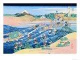 Fording the River Posters por Katsushika Hokusai
