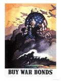 Buy War Bonds Plakater af Newell Convers Wyeth
