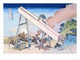 Working Within View of Mount Fuji Posters por Katsushika Hokusai