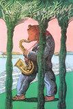 San Diego Jazz Festival Samlertryk af Milton Glaser