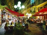 Open Air Cafes and Restaurants, Nice, Cote d'Azure, Provence, France, Europe Impressão fotográfica por Walter Rawlings