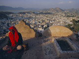 View Over Ajmer, Rajasthan State, India, Asia Reproduction photographique par John Henry Claude Wilson