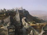 Jain Holy Hill and Temple Complex, Mount Girnar, Junagadh (Junagarh), Gujarat, India Reproduction photographique par John Henry Claude Wilson