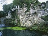 Fountains in the Gardens of the Villa Lante, Bagnaia, Lazio, Italy, Europe Photographic Print by Michael Newton