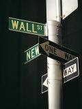 Wall Street Sign, New York City, New York State, USA Impressão fotográfica por Walter Rawlings