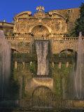 Grand Fountain in the Gardens of the Villa d'Este, Unesco World Heritage Site, Tivoli, Lazio, Italy Photographic Print by Michael Newton