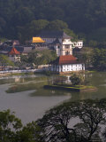 View Over Kandy Lake to the Temple of the Tooth, Kandy, Unesco Heritage Site, Sri Lanka, Asia Photographic Print by Gavin Hellier