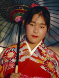 Young Japanese Girl in Kimono, Japan Photographic Print by Gavin Hellier