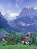 Grindelwald and the North Face of the Eiger, Jungfrau Region, Switzerland Photographic Print by Gavin Hellier