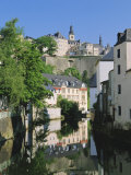 Luxembourg City, Old City and River, Luxembourg Photographic Print by Gavin Hellier