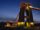 Clifton Suspension Bridge, Bristol, Avon, England, UK, Europe Reproduction photographique par Charles Bowman