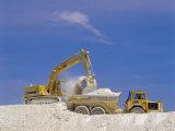 Earth Removal, Jcbs/Diggers, Construction Industry Impressão fotográfica por G Richardson