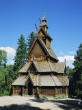 Stave Church, Folk Museum, Bygdoy, Oslo, Norway, Scandinavia, Europe Photographic Print by G Richardson