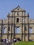 St. Paul's Cathedral, Macau, China Reproduction photographique par Charles Bowman