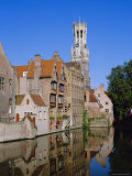 Looking Towards the Belfry of Belfort Hallen, Bruges, Belgium Photographic Print by Lee Frost