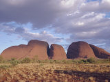 Mount Olga from the West, Northern Territory, Australia Photographic Print by Paolo Koch