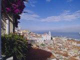 Alfama and Rio Tejo (Tagus River), Lisbon, Portugal, Europe Photographic Print by Hans Peter Merten
