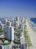 Aerial View of Surfers Paradise, the Gold Coast, Queensland, Australia Reproduction photographique par Adina Tovy