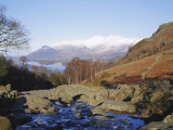 Ashness Bridge, Skiddaw in the Background, Lake District National Park, Cumbria, England, UK Photographic Print by Roy Rainford