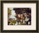 The Peaceable Kingdom Impressão giclée emoldurada por Edward Hicks
